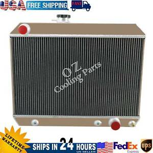 4 Row Aluminum Radiator For 1965 1966 1967 Pontiac Lemans Tempest Gto 5 3l V8