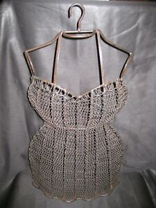 Vintage Antique Hanging Dress Wire Form Mannequin Female Bust torso Dressmaking