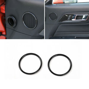 Door Speaker Ring Trim Cover Accessories For Ford Mustang 2015 Carbon Fiber T