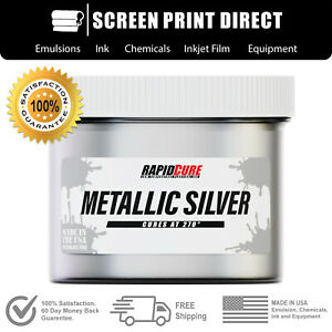 Ecotex Metallic Silver Premium Plastisol Ink For Screen Printing 8oz
