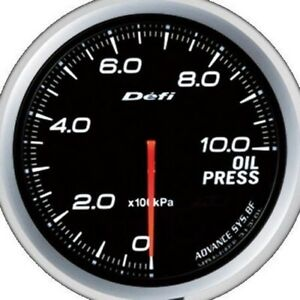 Defi Advance Bf White 60mm Oil Pressure Gauge metric