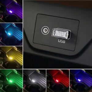 1pcs Usb Led Car Interior Lamp Neon Atmosphere Ambient Light Bulb Accessories