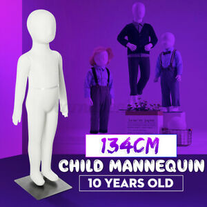 134cm Unisex Child Full Model Body Mannequin Dress Form Clothes Display W Base