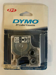 Dymo 45110 1 2 X 23 Black Print On Clear Replacement Tape