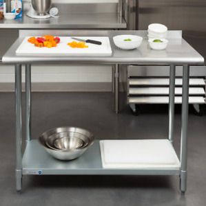 Kitchen Work Table Restaurant Food Prep Workstation Commercial Stainless 24 x48