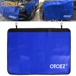 Heavy Duty Automotive Strong Magnetic Leather Fender Protector Blue Work Mat
