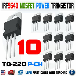 10pcs Irf9640 Irf 9640 Power Mosfet 11a 200v To 220 ir P channel Transistor