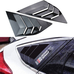 2x Fit For Ford Focus St Rs Mk3 12 18 Rear Side Window Quarter Louver Cover Trim