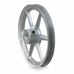 Congress Ca0800x062kw 5 8 Fixed Bore 1 Groove Standard V belt Pulley 8 00 In Od