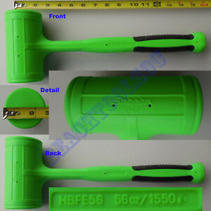 New Snap On Green Dead Blow Soft Grip Hammer 56oz Hbfe56 Made In Usa