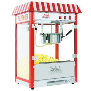 Popcorn Popper Machine Maker Commercial Carnival Bar Style Removable Cooking Sur