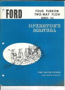 Ford Four Furrow Two way Plow Series 144 Operator s Manual