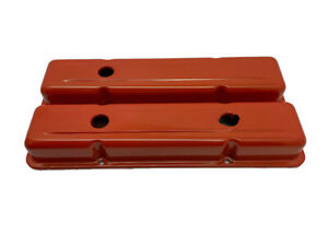 Blemished 1958 86 Chevy Small Block Short Valve Covers orange