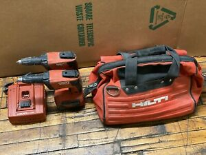 Hilti Sd 4500 a18 Cordless High Speed Drywall Screwdriver pair With Batteries