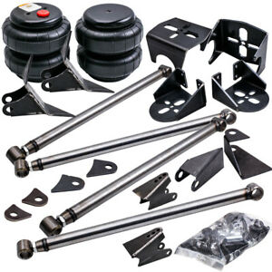 Weld On Triangulated 4 Link Suspension Kit Bars 2500 Bags Bushings Nuts
