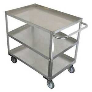 Zoro Select 11a455 Stainless Steel Unassembled Utility Cart 1200 Lb Capacity