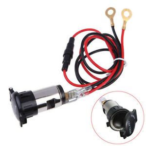 1x 12v 120w Car Tractor Cigarette Lighter Power Socket Outlet Plug Accessory Kit