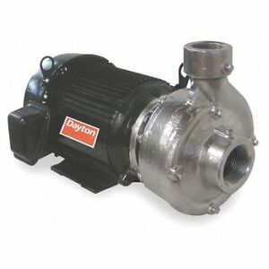 Dayton 12a082 Stainless Steel 10 Hp Centrifugal Pump 208 230 460v
