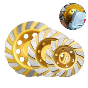 4 5 6 Inch Cup Diamond Grinding Wheel Grinder Disc For Concrete Stone 7 8 Hole