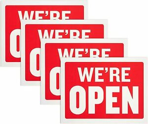 Double Sided Open And Closed Sign 9 X 12 Inches pack Of 4 By Hespex