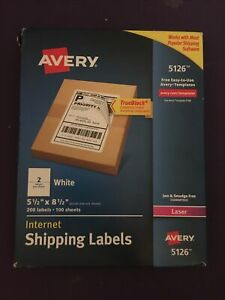 Laser Shipping Labels perforated 5 1 2 x8 1 2 200 bx we