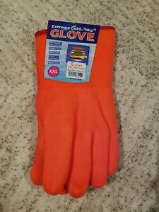 Sz Xxl Large Extreme Snow Cold 5 Layer Pvc Waterproof Work Mesh Lined Gloves