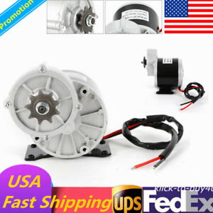 Usa Dc 350w Electric Motor Bicycle Bike Scooter Gear Reduction 300 Rpm 24v