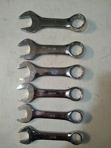 6 Pc Stubby Wrench Set Sae