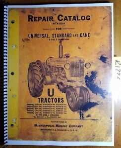 Minneapolis moline U Utu Uts Utc Utn Ute Tractor Repair Parts Manual R 1115a 53