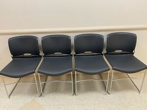 Pickup Only Set Of Four 4 Hon Stacking Chairs Great Condition f78x000013
