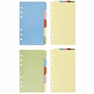 Bluecell 2 Sets Vertical Tabs amp Horizontal Paper Divider Index Page Cards A6
