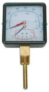 Zoro Select 4cfc8 Boiler Gauge square 0 75 Psi 60 To 260 F