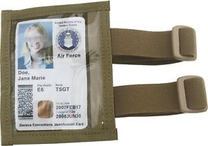 Military Arm ID Holder Adjustable Version with Elastic Tactical Tan Made in USA $5.25
