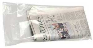 Zoro Select 5dtw8 20 X 6 1 2 Newspaper Bags 0 65 Mil Clear Pk 2000