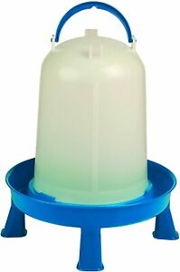 Poultry Waterer With Legs blue White 3 Quart item No Dt9872