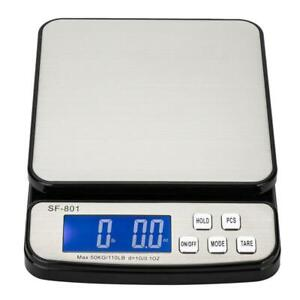 Digital Shipping Scale Postal Parcel Scale 110lb X 0 1oz Capacity W Ac Adapter