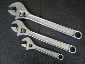 Craftsman Diamond Proto 6 10 12 Adjustable Wrenches 44605 D710 706 Made Usa