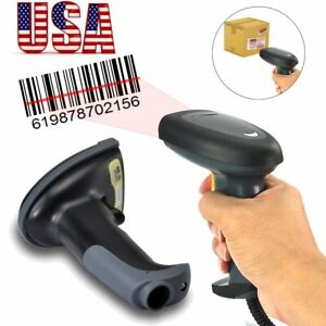 Automatic Laser Handheld Barcode Scanner Upc Label Reader Scan For Pos Usb Cable