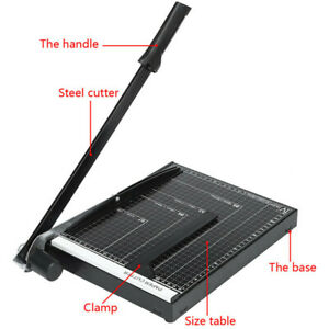 Paper Cutter 18 A4 To B7 Metal Base Guillotine Page Trimmer 12 Sheets Capacity