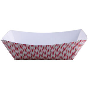 Zoro Select Eft1000 Paper Disposable Food Tray 10 Lb Red Pk250