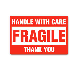 50 Fragile Handle With Care Labels 2 X 3 Shipping Mailing Stickers