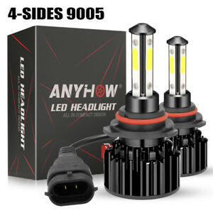 2020 9005 Led Headlight 6000k 2000w 300000lm 4 side Low Beam Bulbs High Power Us