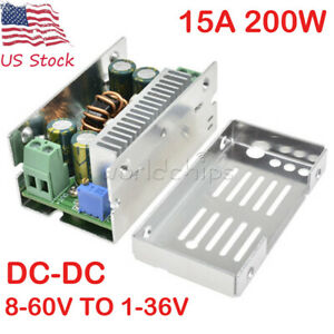 Dc dc 15a 200w Synchronous Buck Converter Step down Power Module 8 60v To 1 36v