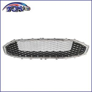 Front Bumper Upper Chrome Honeycomb Grille For 2019 2020 Ford Fusion