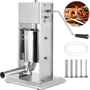 7l Vertical Commercial Sausage Stuffer 2 Speed Stainless Steel Meat Press