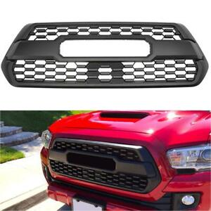 For 2016 2019 Toyota Tacoma Black Honeycomb Mesh Front Bumper Abs Plastic Grille