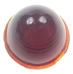 Vintage Behive Red Amber Glass Tail Light Lens Cover Ls 301 Bullet Auto Truck