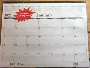 2021 Calendar Osj Home Office Monthly Desk Pad Calendar 17 X 22 Black