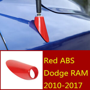 Red Abs Antenna Adapter Mount Mounting Base Accessories For Dodge Ram 2010 2017