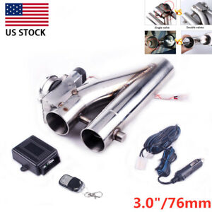 3 Dual Valve Exhaust Trim Down Tube Remote Control Pipe Muffler Cutout Bypass